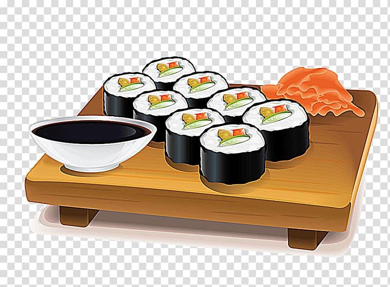 Sushi Japanese Cuisine Makizushi , Sushi transparent.