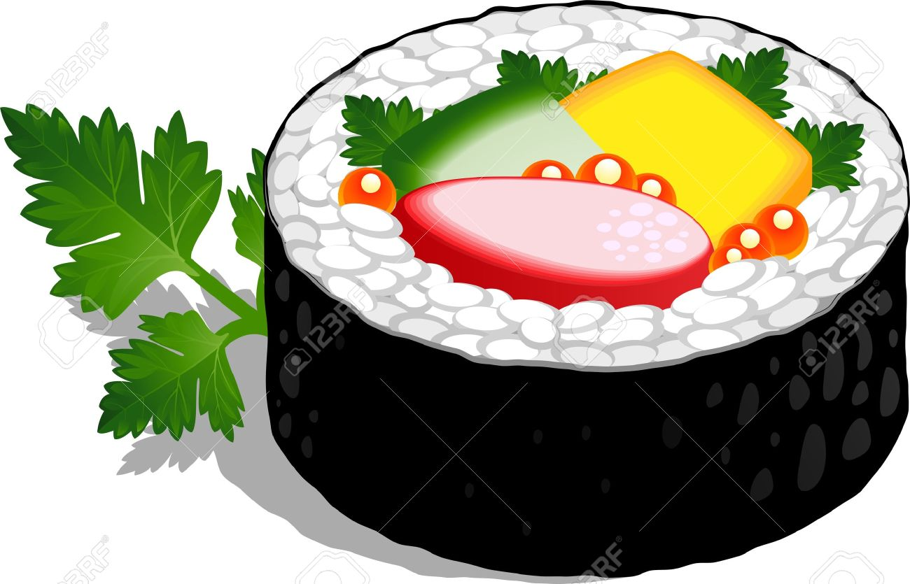 Sushi roll clipart 4 » Clipart Station.