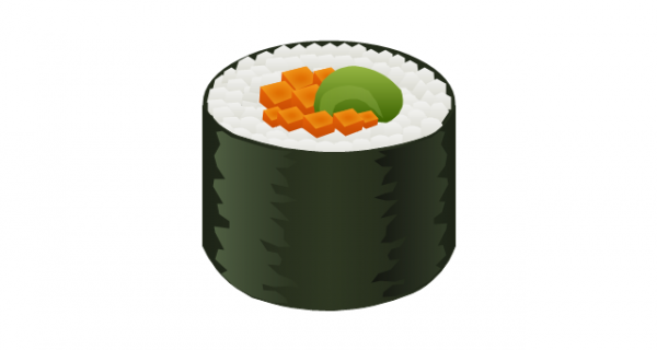 Sushi roll clipart 1 » Clipart Station.