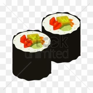 Sushi Roll Vector Clipart Asian Cuisine Sushi California.