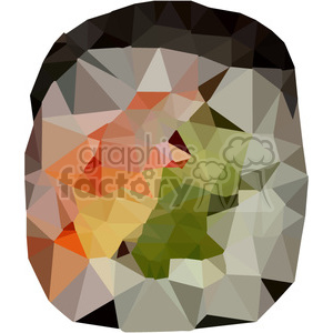 Sushi Roll geometry geometric polygon vector graphics RF clip art images  clipart. Royalty.