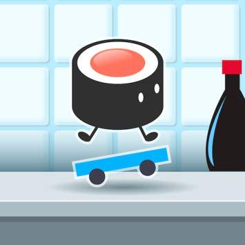 Sushi on a Skateboard.