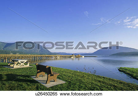 Stock Image of Salmon Arm Wharf on Shuswap Lake, Salmon Arm.