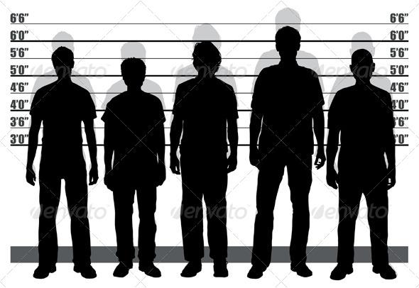 Suspect Line Up Clipart.
