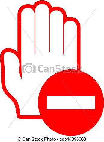 Clip Art Vector of No pass.