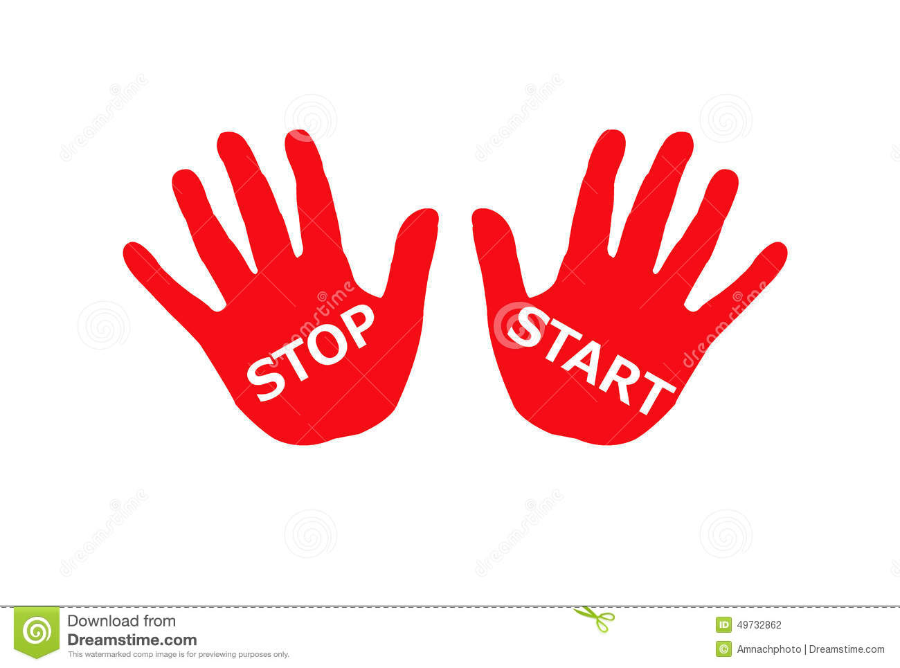 Colorful Hands On Stop Sign Stock Photography.