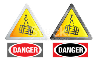Warning Sign Suspended Load stock vectors.