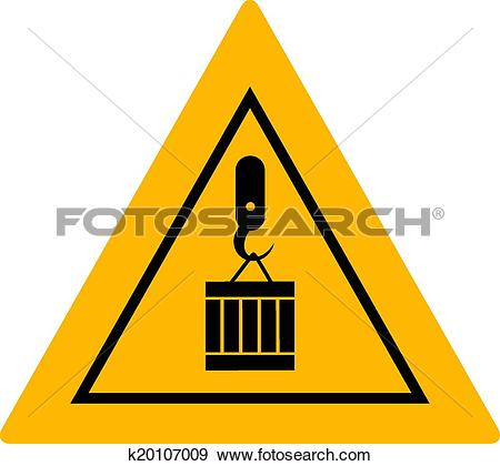 Clip Art of suspended load sign k20107009.