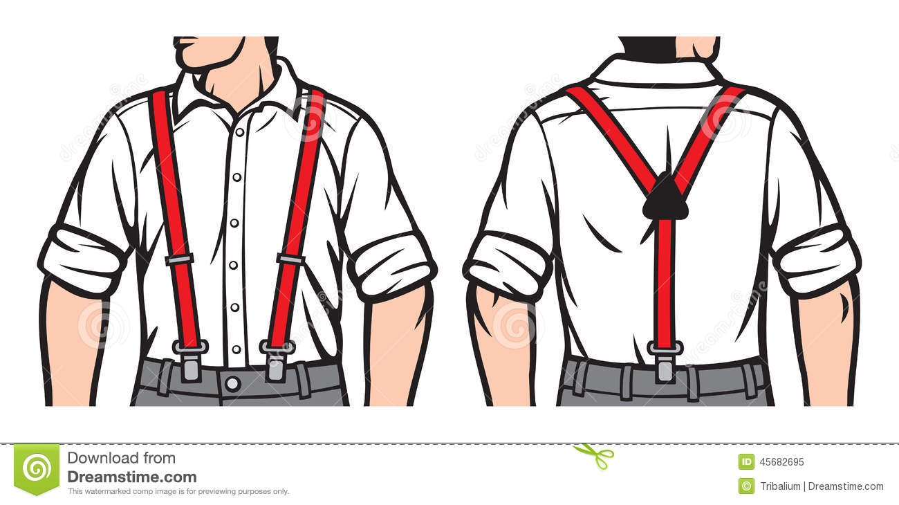 Suspenders Stock Illustrations.