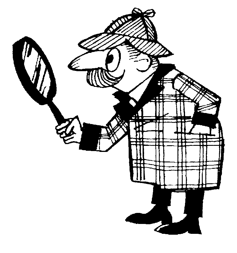 Detective Clipart Black And White.