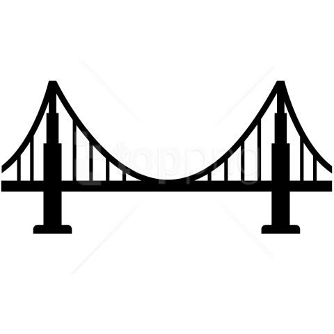 Bridge,Landmark,Line,Illustration,Black.