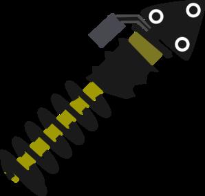 Car suspension clip art.