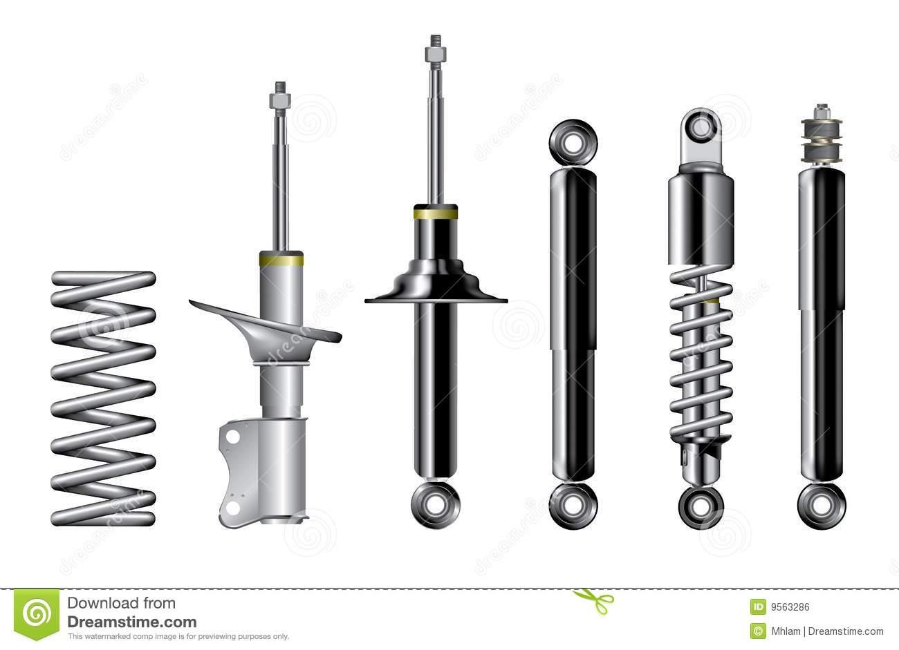 Car suspension clipart.