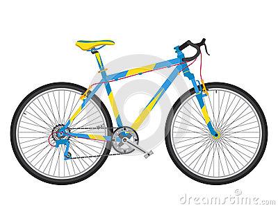 Mountain Bike Suspension Fork Detail Stock Illustrations.