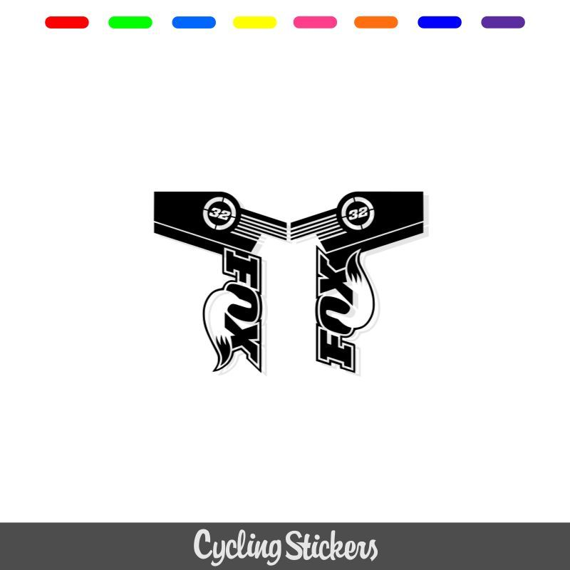 Fox 32 Style Suspension Fork Decal/Stickers.