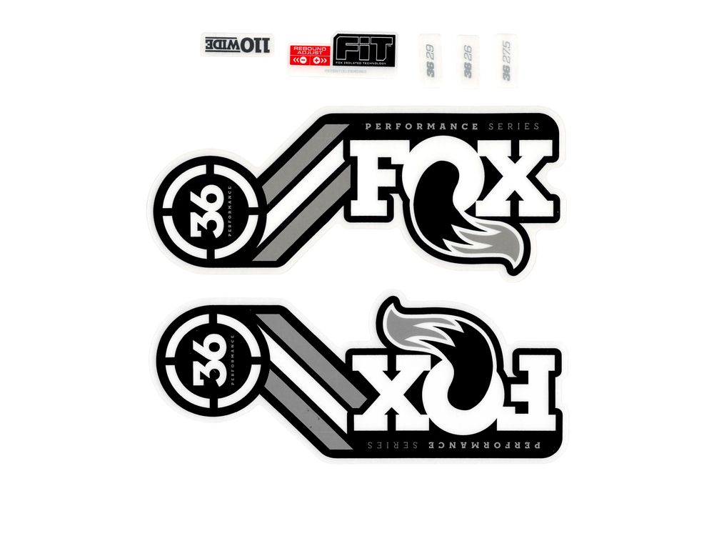 FOX Sticker Decal Set for 36 Performance Series Suspension fork grey,.