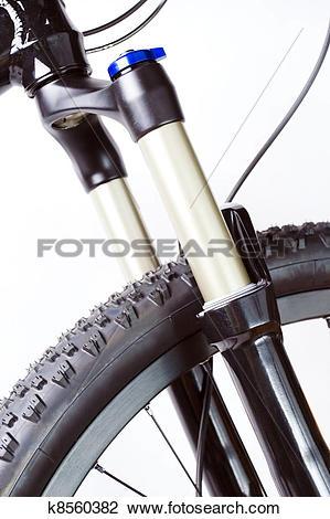 Stock Photo of Mountain bike suspension fork k8560382.