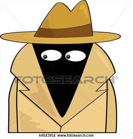 Suspicious person clipart.