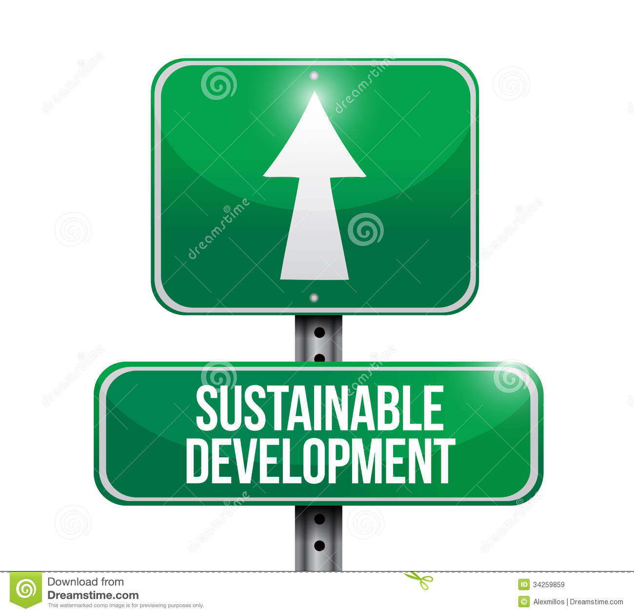 Sustainable development clipart.