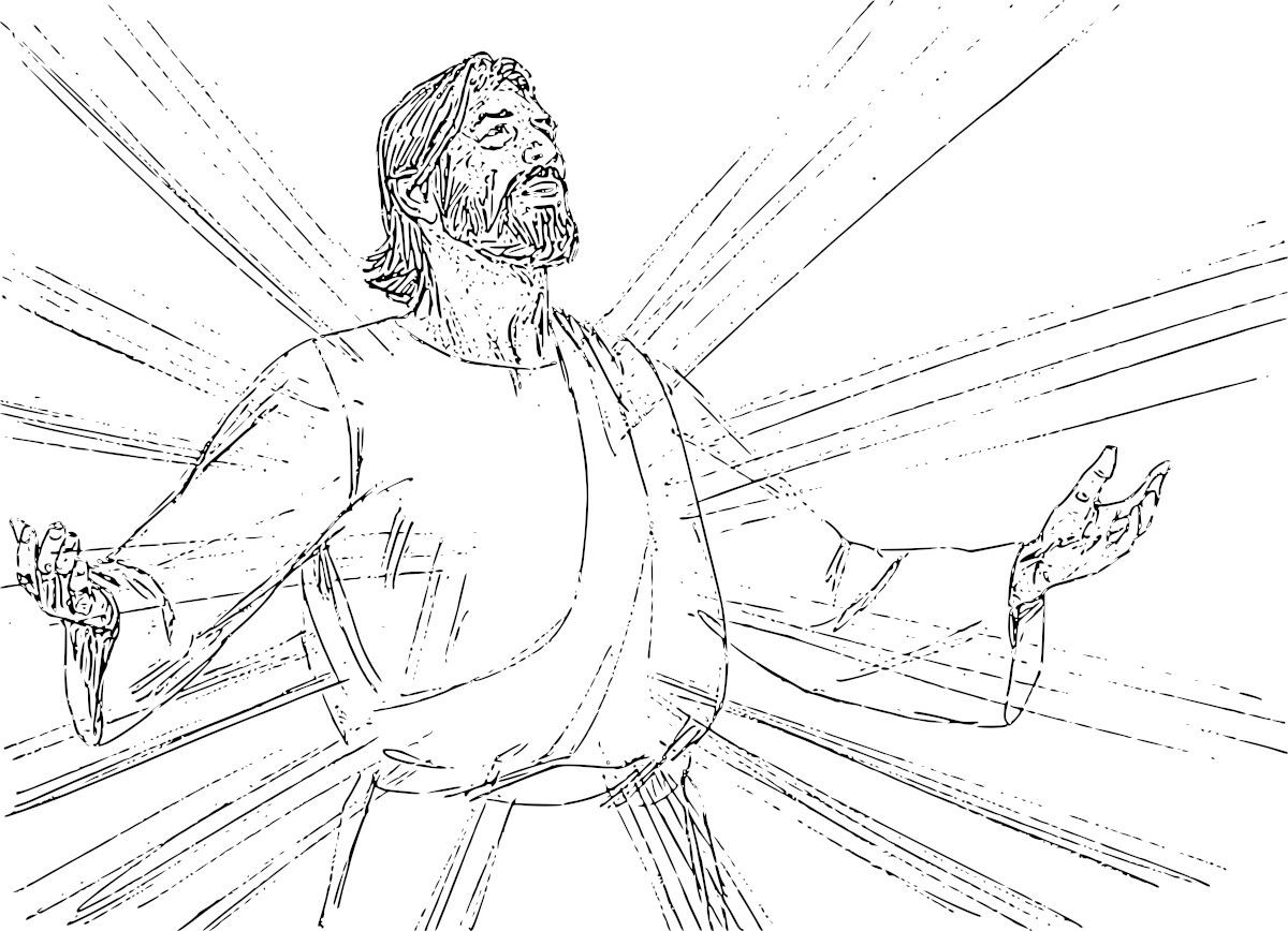 Transfigured By Jesus Clipart.