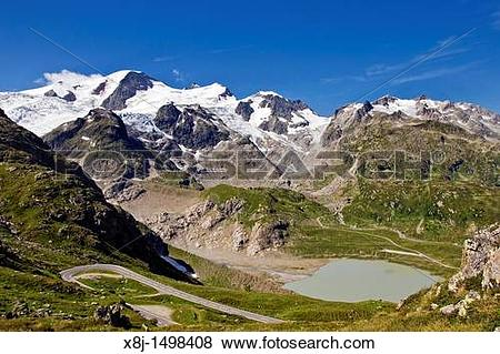 Pictures of Lake, Steinsee, Glacier, Steingletscher, Susten pass.