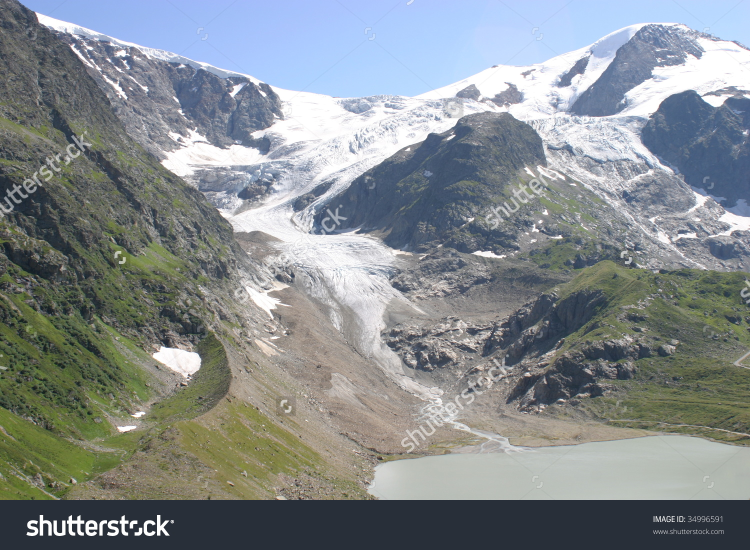 Wonderful View Of Sustenpass Glacier Stock Photo 34996591.