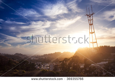 Sutro Tower Stock Photos, Royalty.