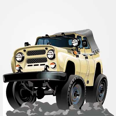 Vector cartoon SUV Clipart Picture Free Download.