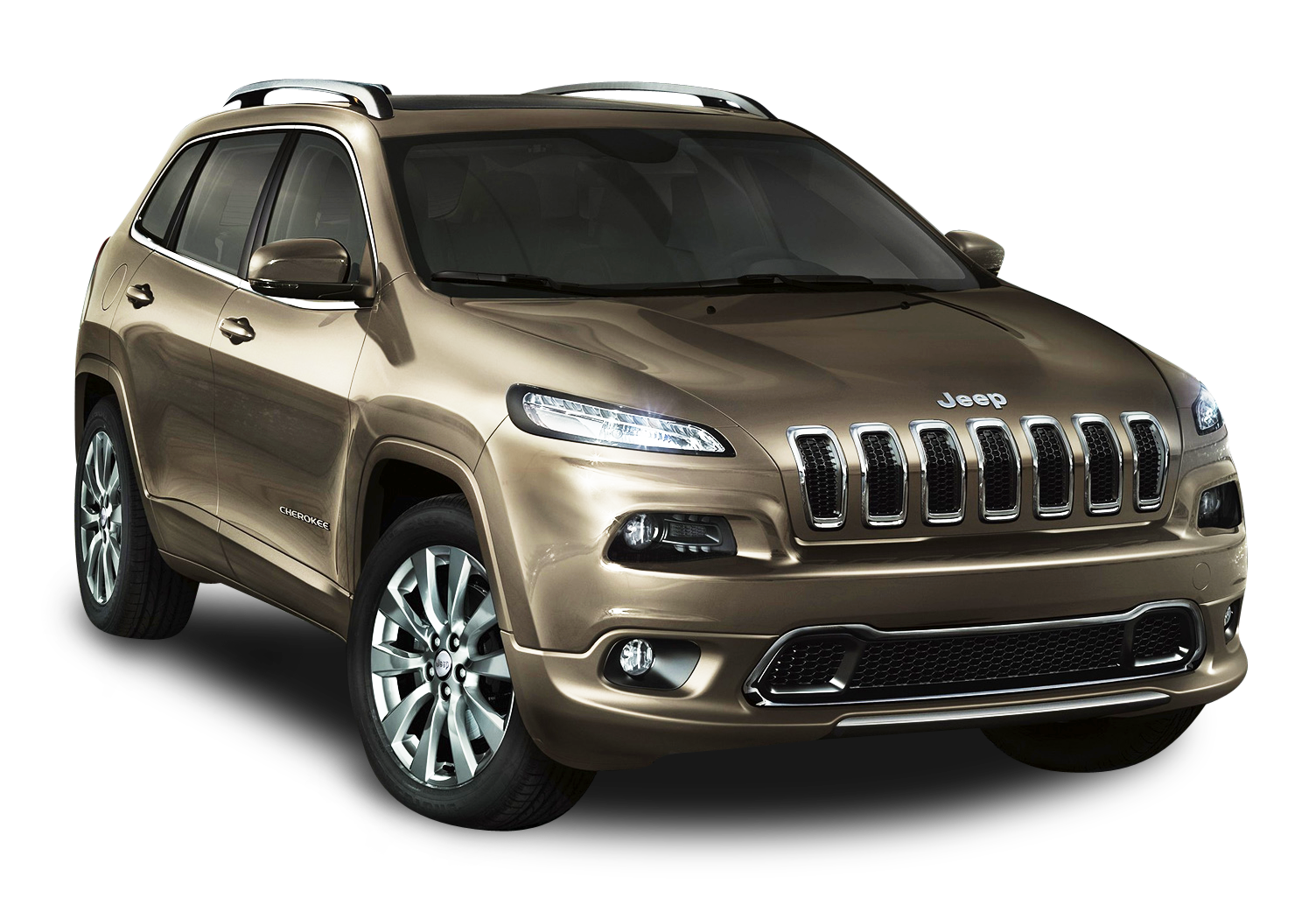 Jeep Grand Cherokee SUV Chocolate Car PNG Image.