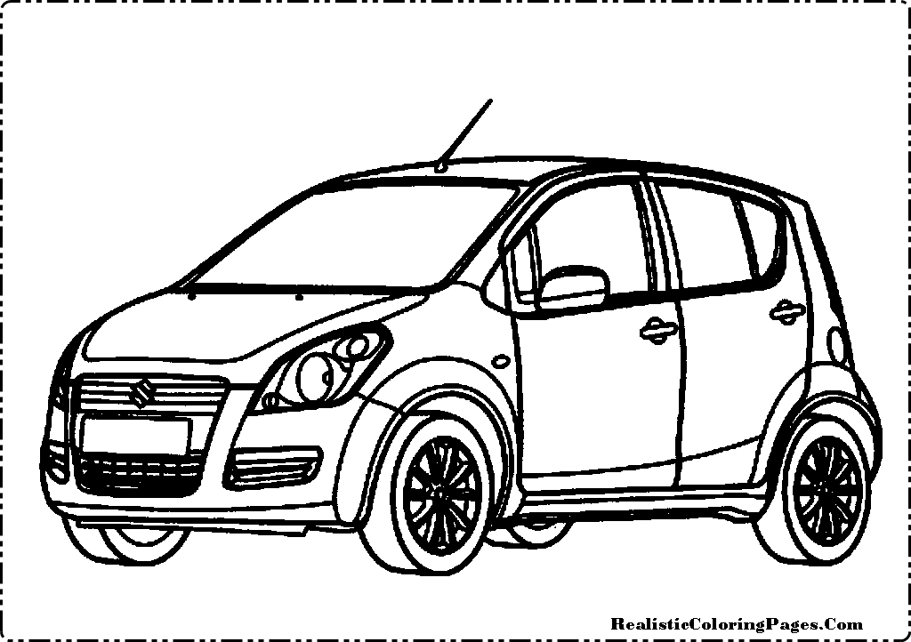 Suzuki Splash Cars Coloring Pages.