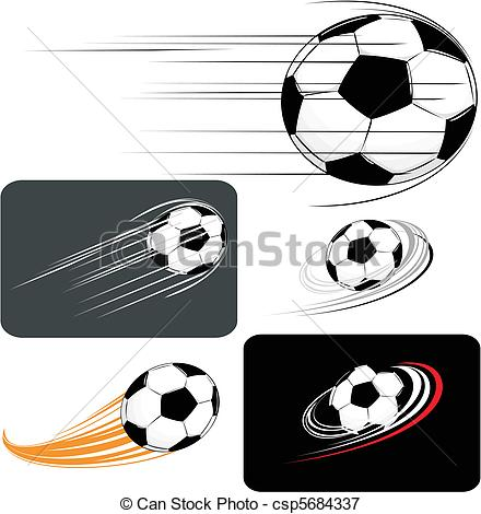 Vectors Illustration of soccer clipart.