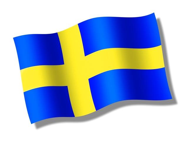 Svenska flaggan clipart.