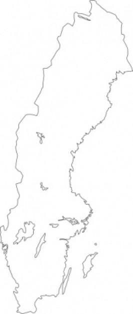 Map of sweden clip art.