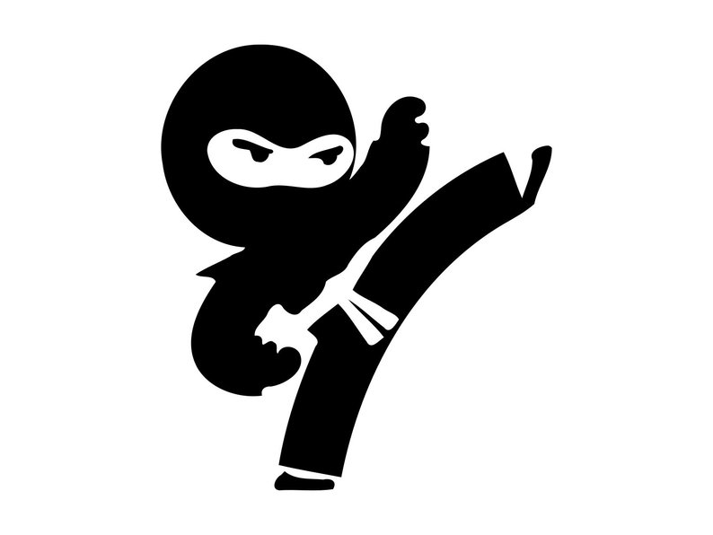 Ninja Boy Svg 2 Ninja Svg Boys Room Silh #312380.
