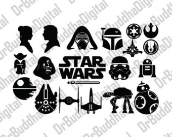 Sale! Star Wars Font SVG Collection.