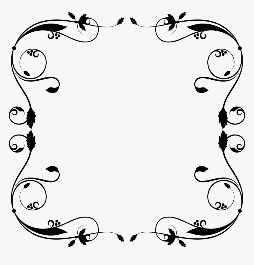 Free Download Simple Flourish Frame Svg Clipart Borders.
