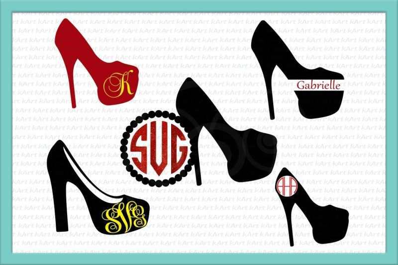 Free high heel svg, high heel monogram svg, high heels svg.