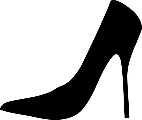Women shoe silhouette svg file.