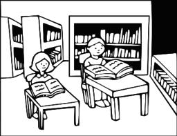 Library Clip Art SVG.