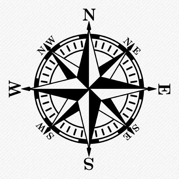 Compass Rose SVG files Compass vector and clipart files.