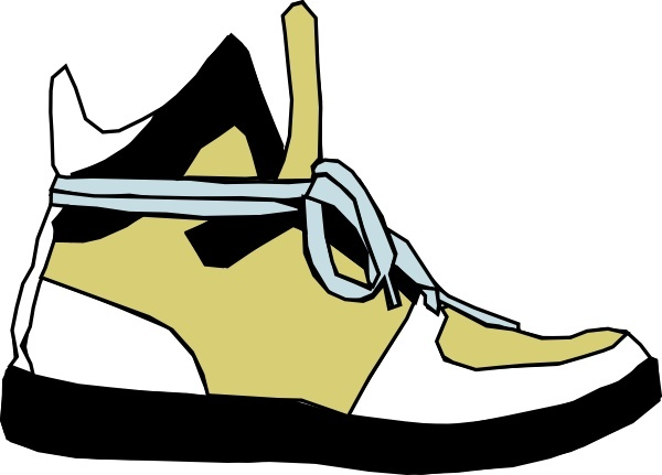 Shoes Sneaker clip art Free vector in Open office drawing.