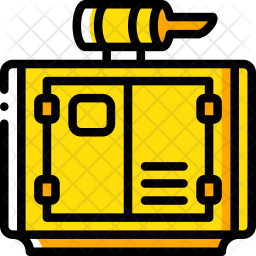 Generator Power Icon of Colored Outline style.