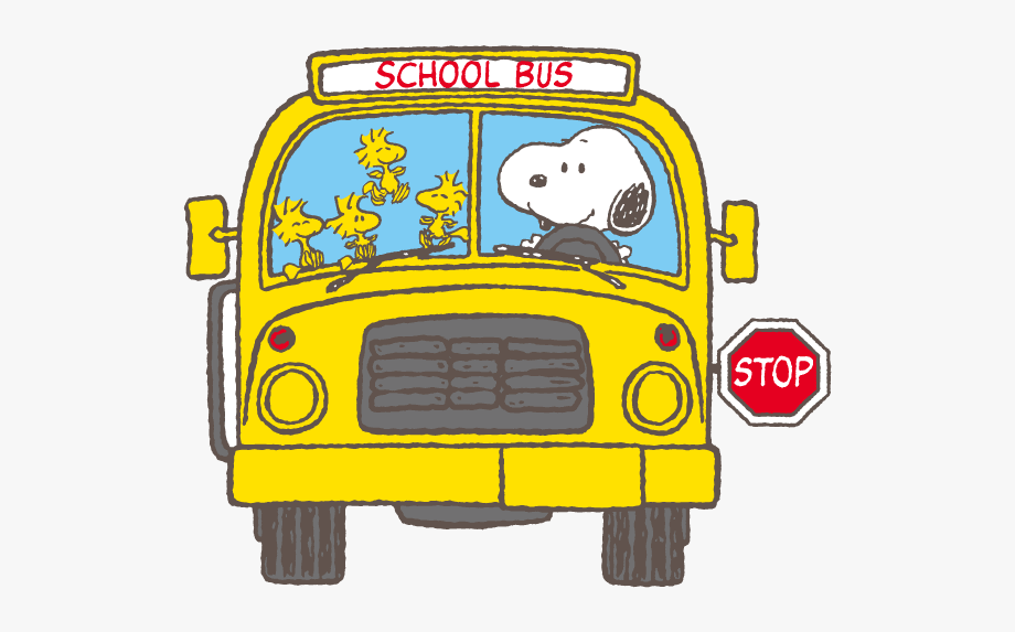 Snoopy Clipart School Bus.