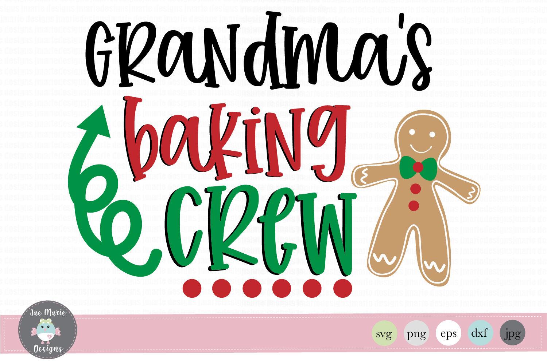 Christmas Svg, Grandmas baking crew svg, christmas clipart.