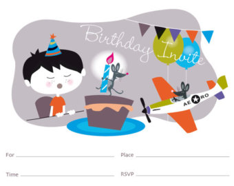 Birthday card clip art graphic. Make your own birthday by Esani.