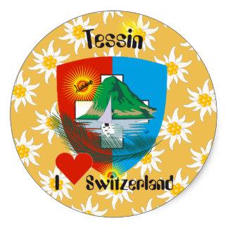 Canton Ticino Stickers.