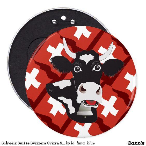 Schweiz Suisse Svizzera Svizra Switzerland Runder Button 15,3 Cm.