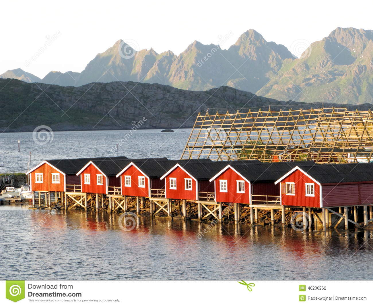Lofoten Norwegian Sea Landscape Svolvaer Stock Photo.