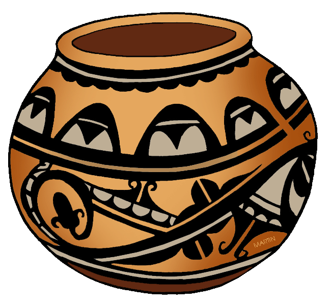 Free Native Americans Clip Art by Phillip Martin, Southwest Pottery.