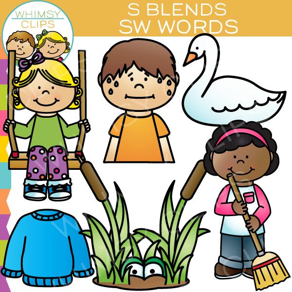 S Blends Clip Art Bundle , Images & Illustrations.